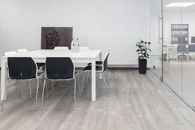Pergo flooring in an office