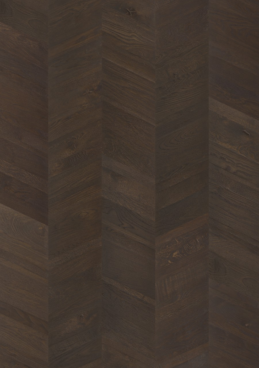 Black Sandhamn Parquet Black Manor Oak, Chevron W2434-04372