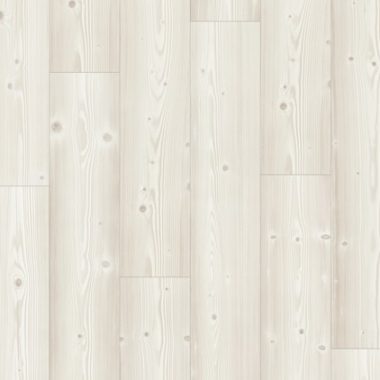 White Modern Plank - Sensation Laminate Brushed White Pine, plank L0231-03373