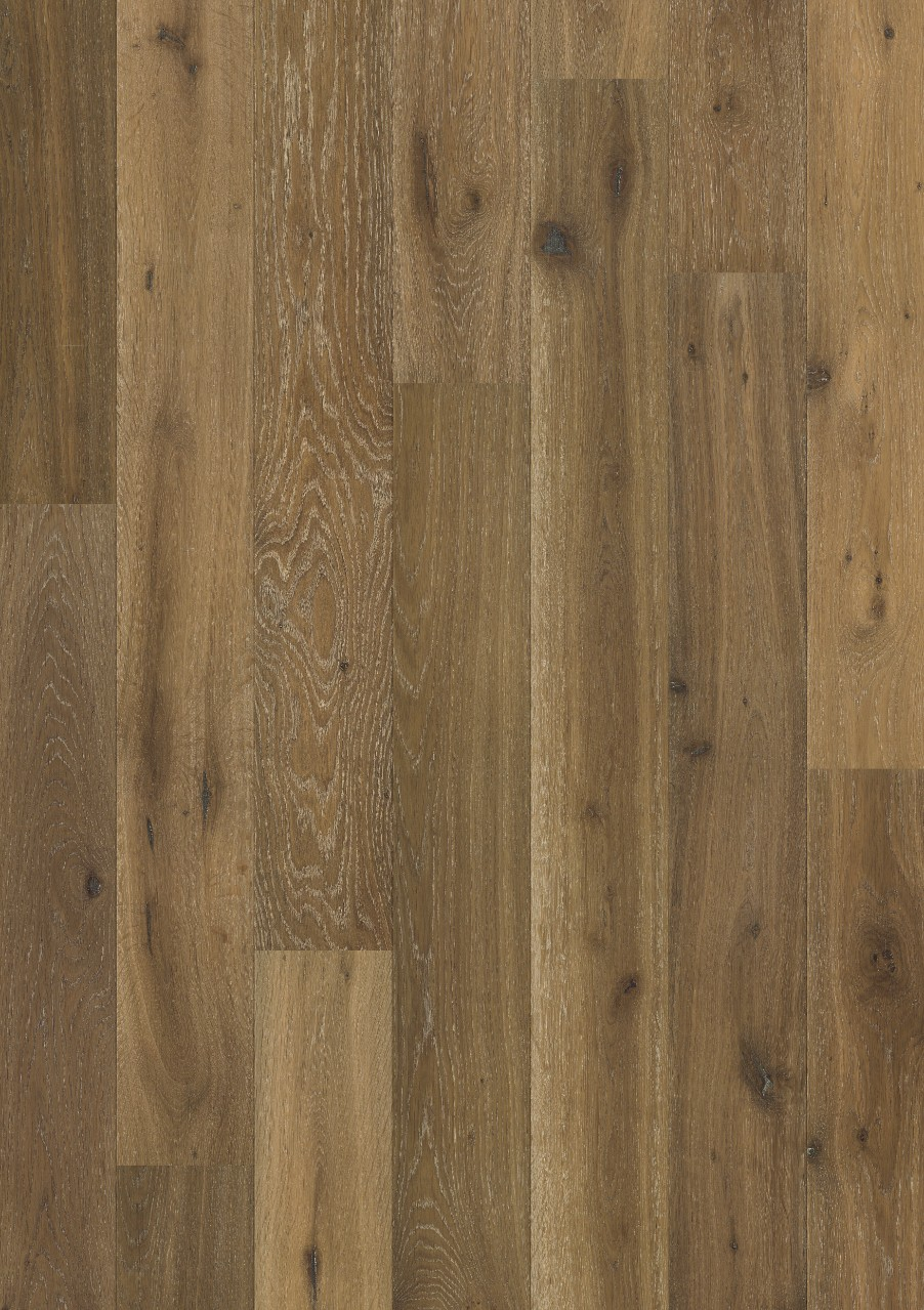 Dark brown Gotland Parquet Bourbon Oak, plank W1705-04006