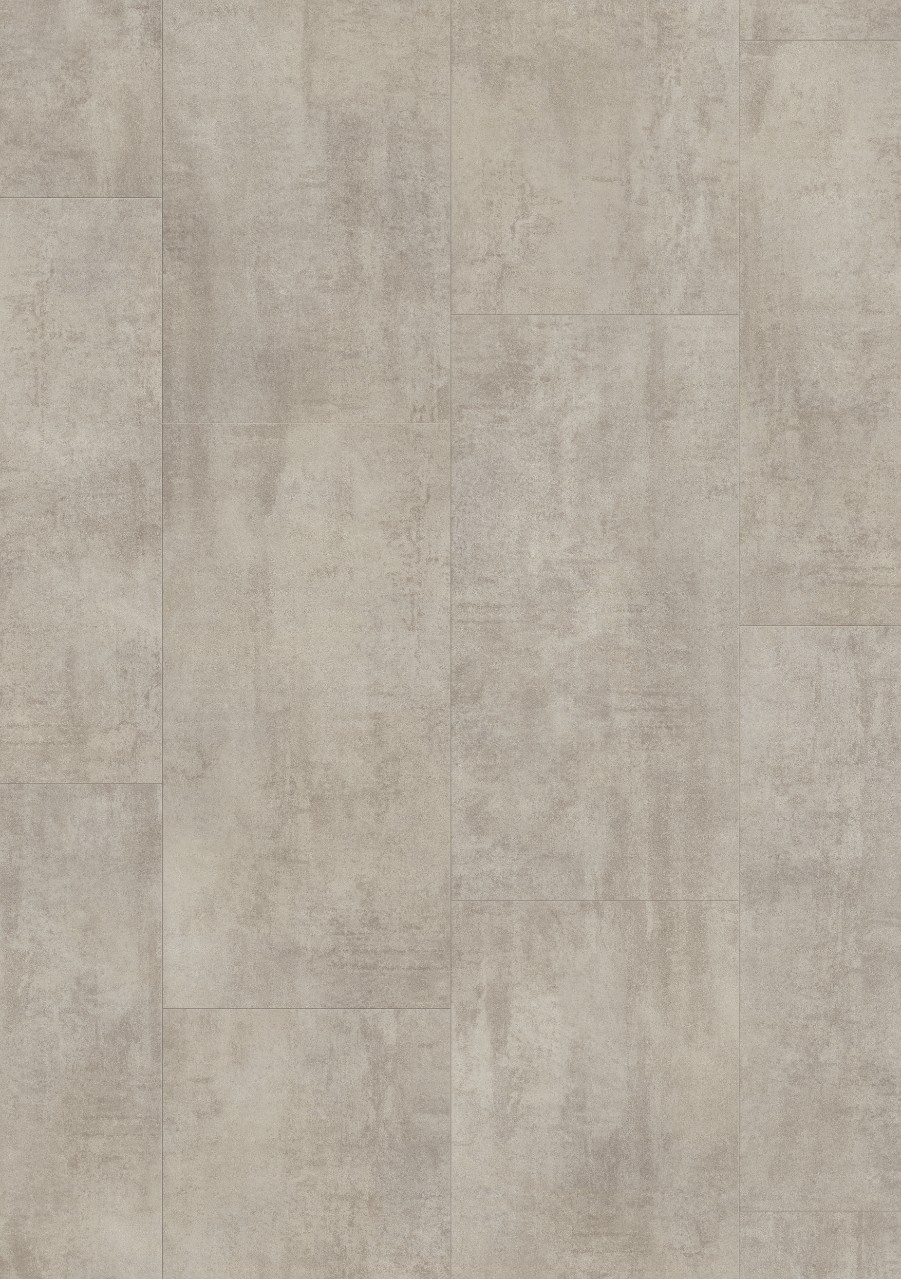 Vaaleanharmaa Tile Optimum Click Vinyyli Light Grey Travertin V3120-40047