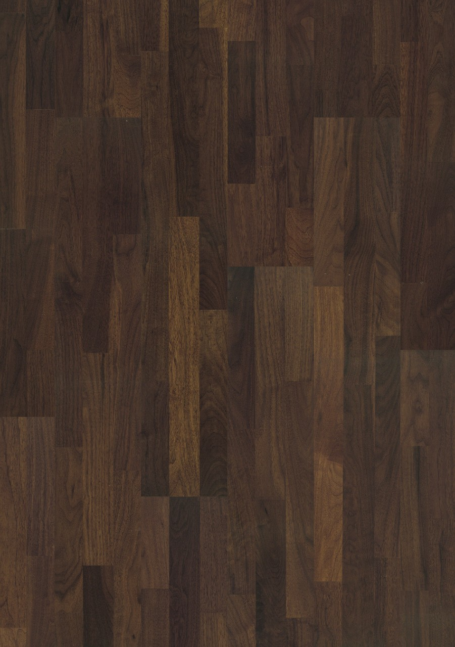 Dark brown Värmdö Parquet Carob Walnut, 3-strip W1911-04064