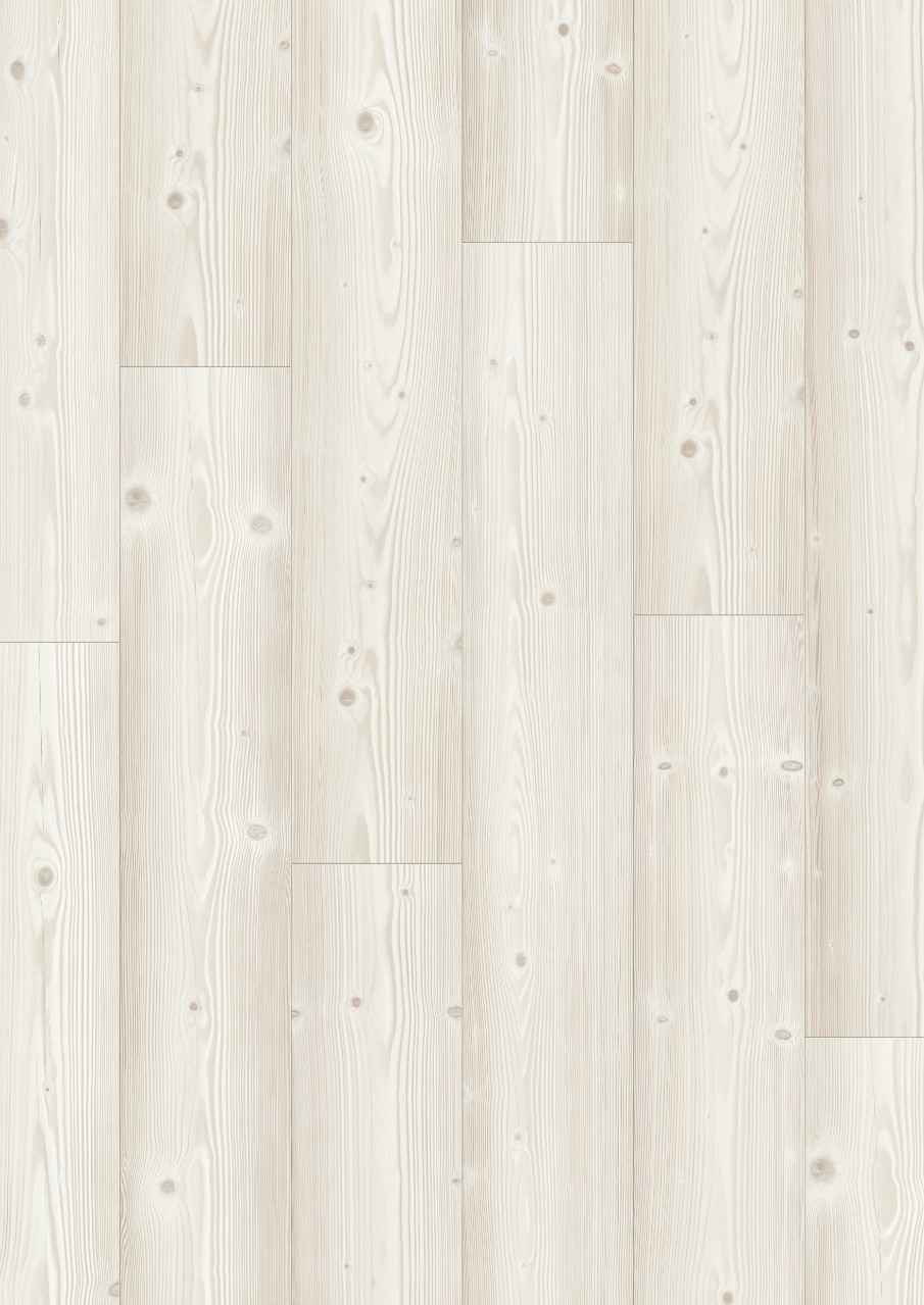 White Modern Plank - Sensation Laminate Brushed White Pine, plank L0331-03373