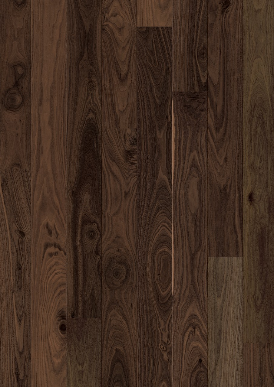 Dark brown Bornholm Parquet Mild Walnut, plank W1708-03999-2