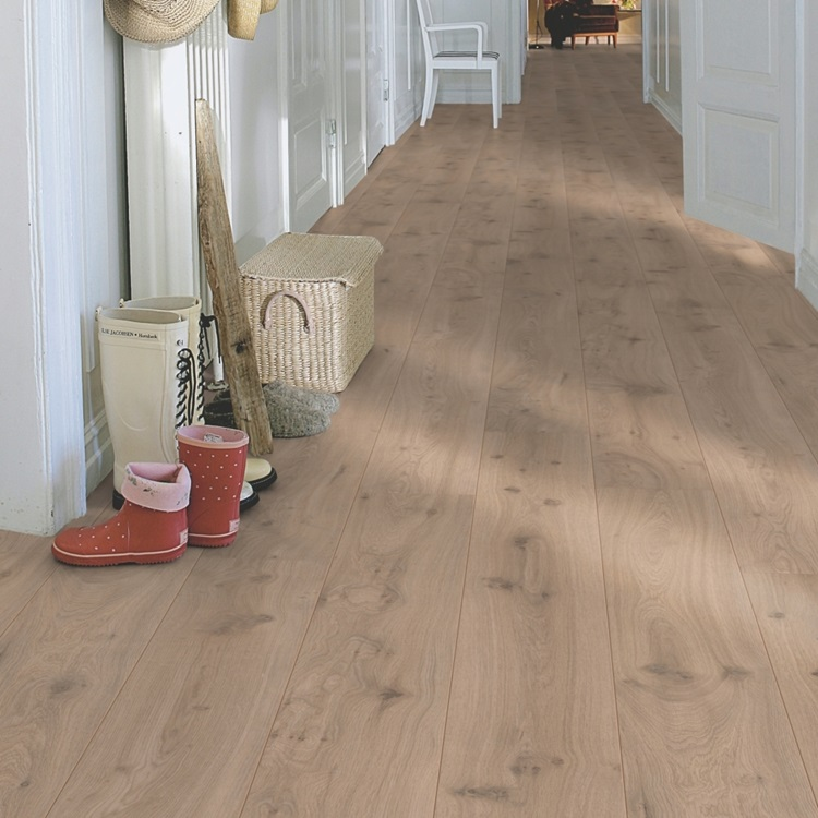 Beige Long Plank Laminados Roble Flotante, tablón L0323-01755