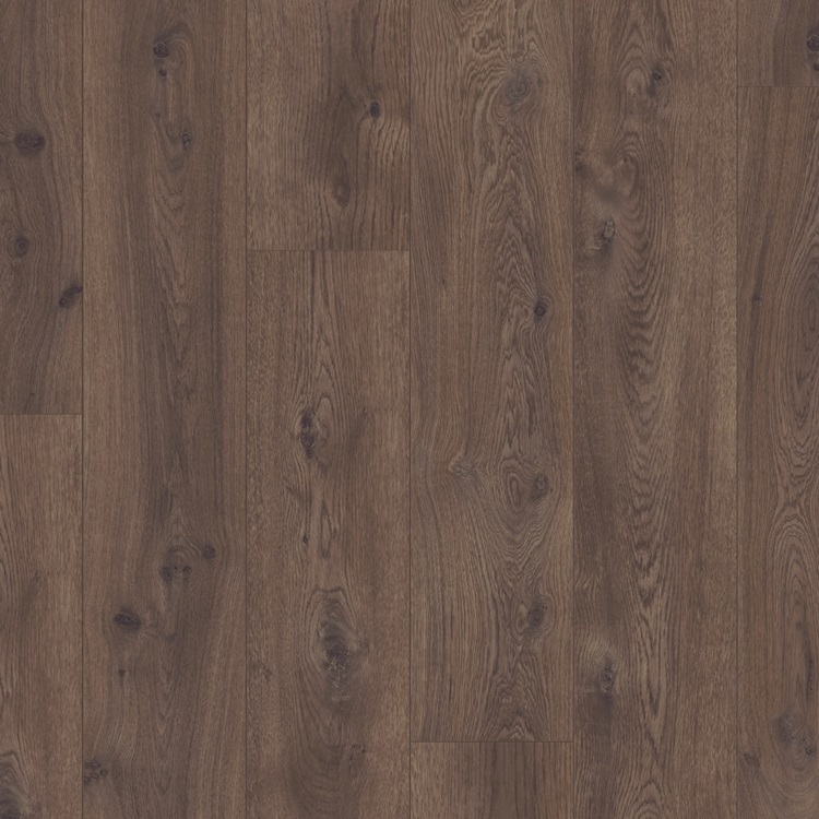Dark brown Long Plank Laminate Chocolate Oak, plank L0323-01754