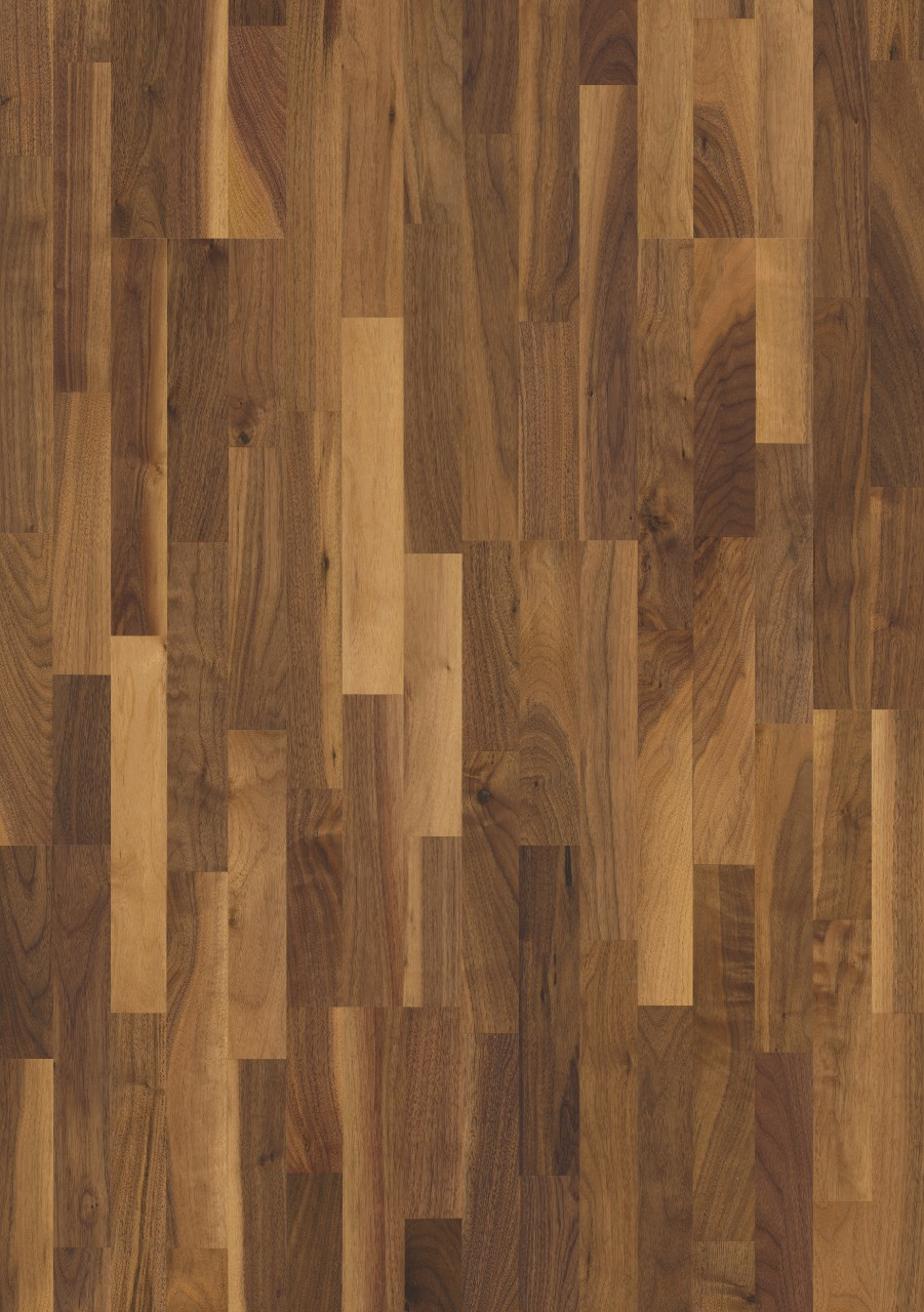 Dark brown Värmdö Parquet Vivid Walnut, 3-strip W1911-03042