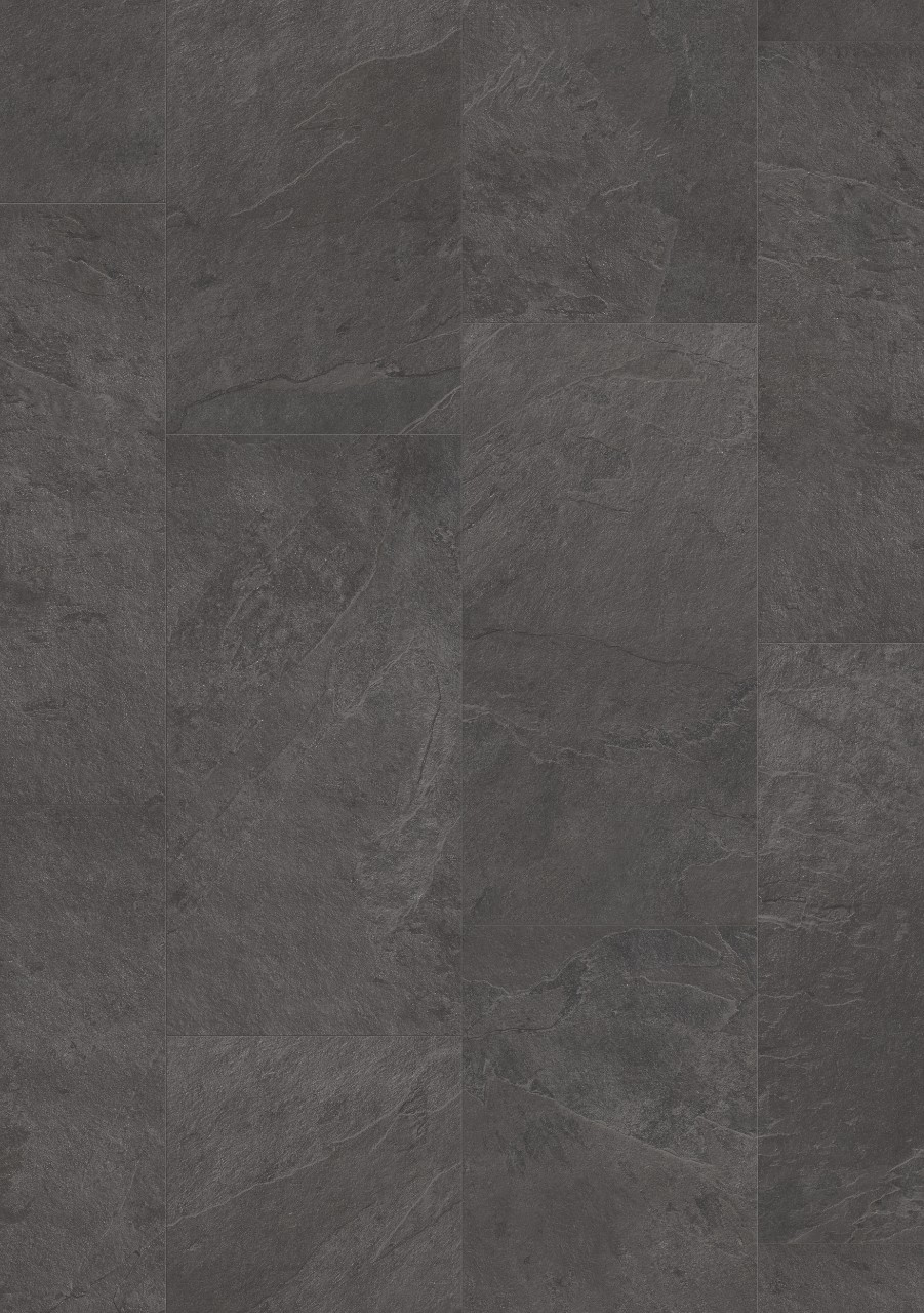 Dunkelgrau Tile Optimum Click Vinyl Schiefer Carbon V3120-40035