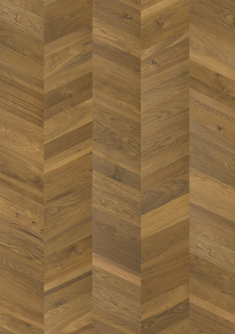 Dark brown Sandhamn Parquet Smoked Manor Oak, Chevron W2434-04374