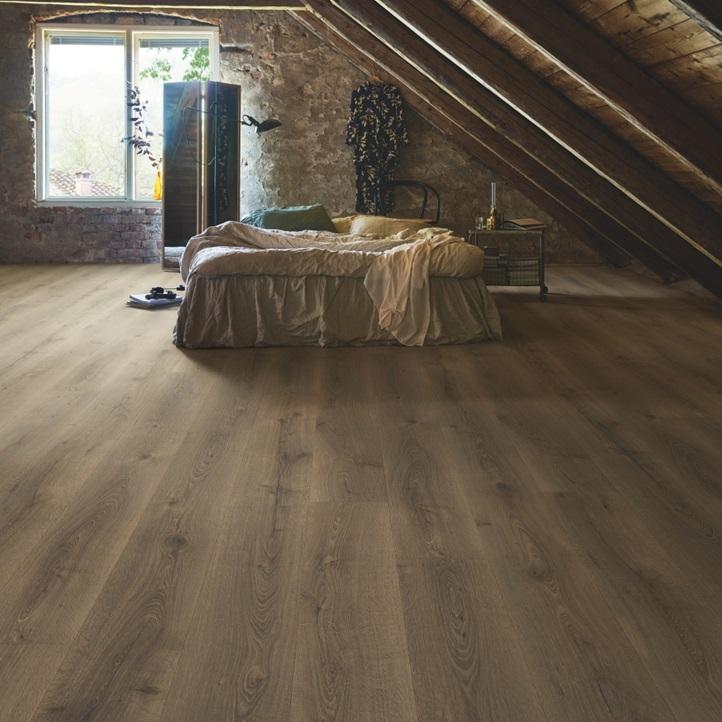 Темно-коричневый Wide Long Plank - Sensation Ламинат Дуб провинциальный, планка L0234-03590