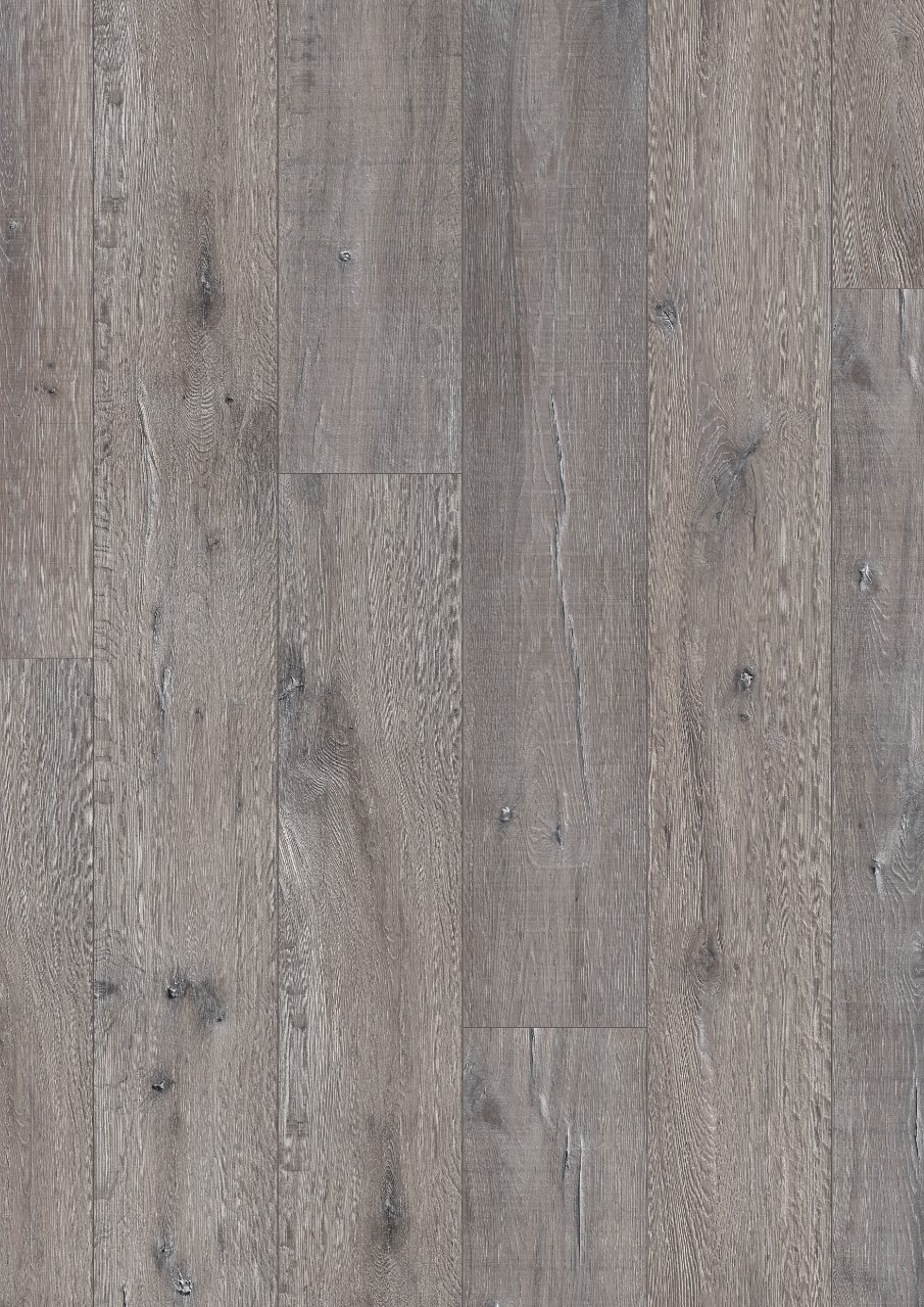 Dark grey Long Plank Laminate Reclaimed Grey Oak, plank L0323-01760