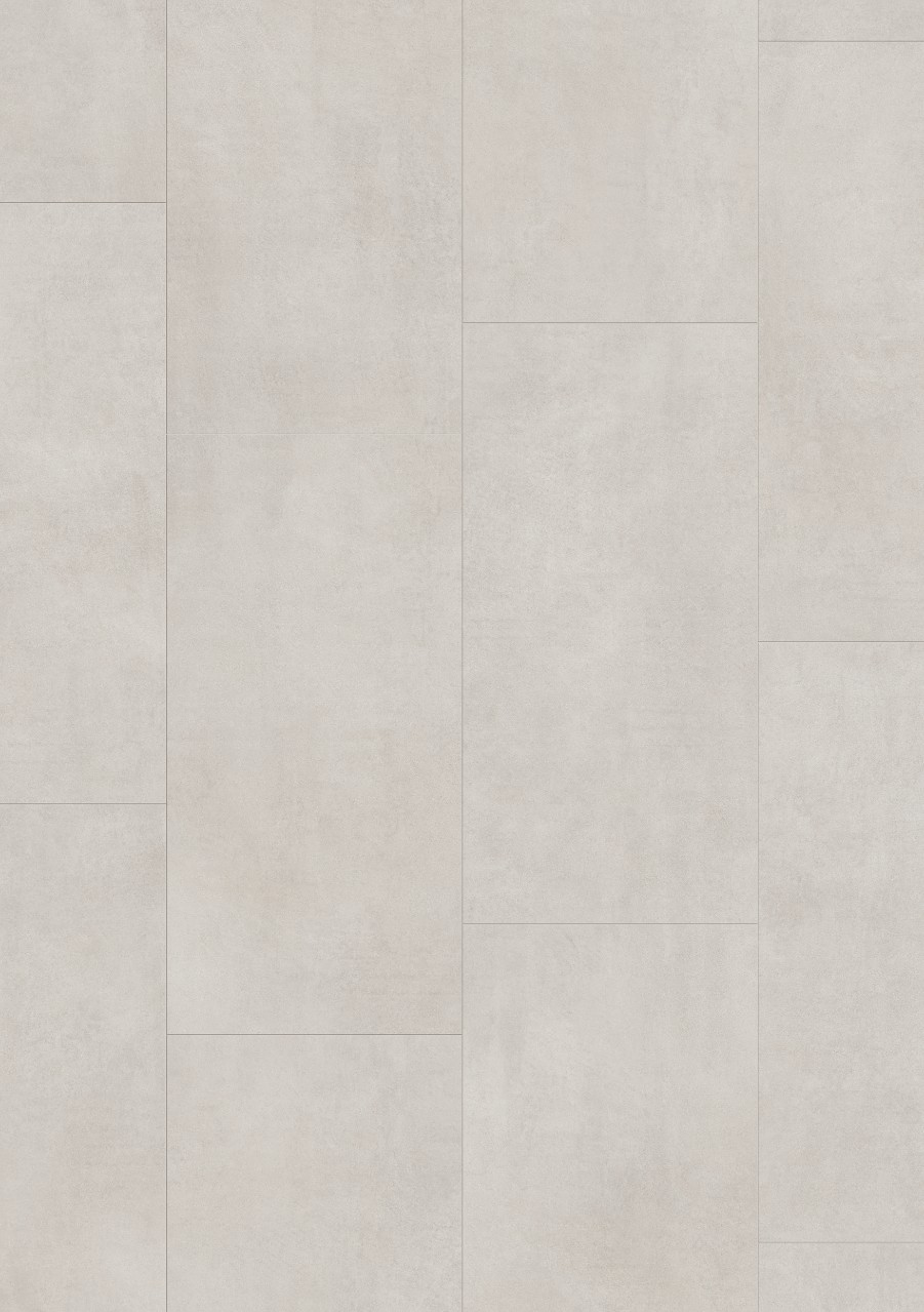 Vaaleanharmaa Tile Optimum Click Vinyyli Light Concrete V3120-40049