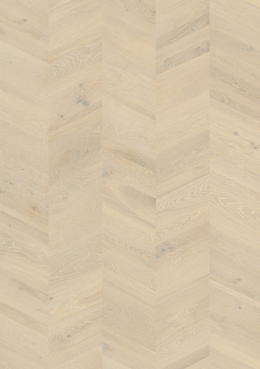 White Sandhamn Parquet Chalked Manor Oak, Chevron W2434-04373