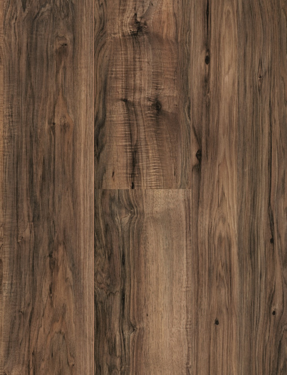 Dark brown Domestic Extra Uniclic Laminate Pecan, plank L0701-2123