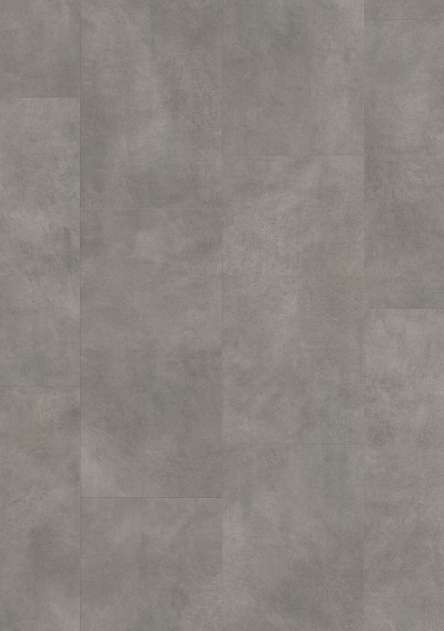 Tummanharmaa Tile Optimum Glue Vinyyli Dark Grey Concrete V3218-40051
