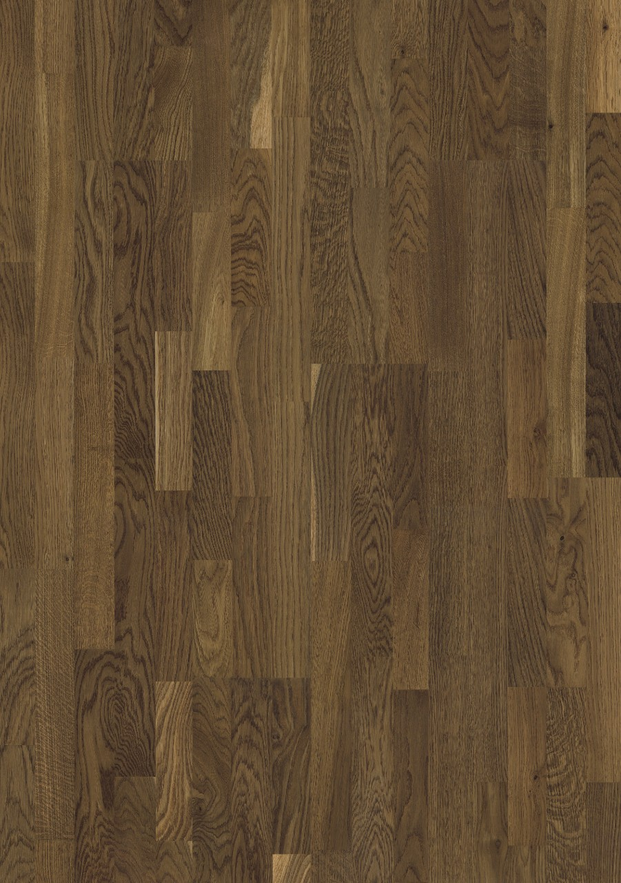 Dark brown Värmdö Parquet Toast Oak, 3-strip W1911-04007
