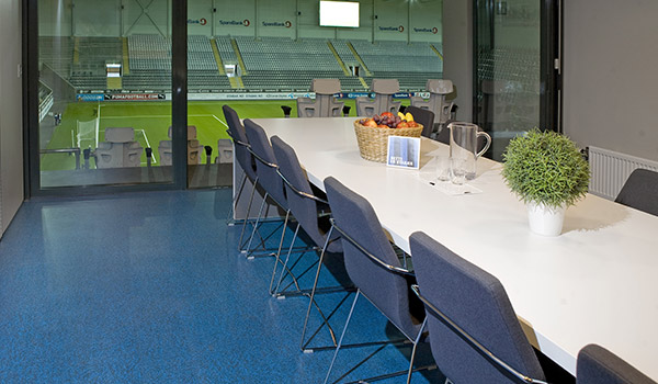 pergo flooring in stabaek football office