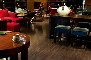 Pergo flooring in the Grand Hyatt hotel