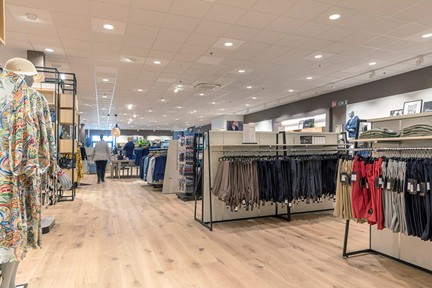Pergo flooring in a clothing store