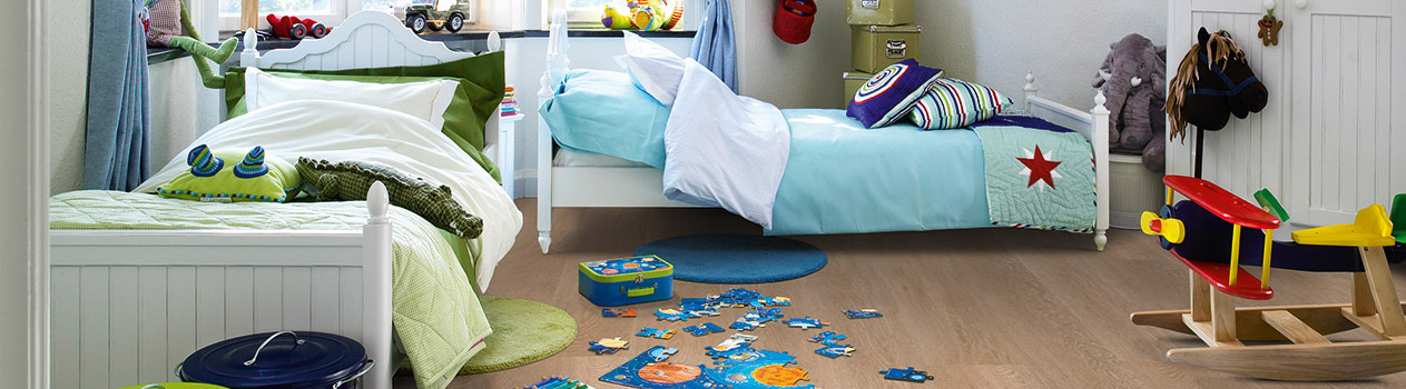 Choose the right floor for your children's rooms