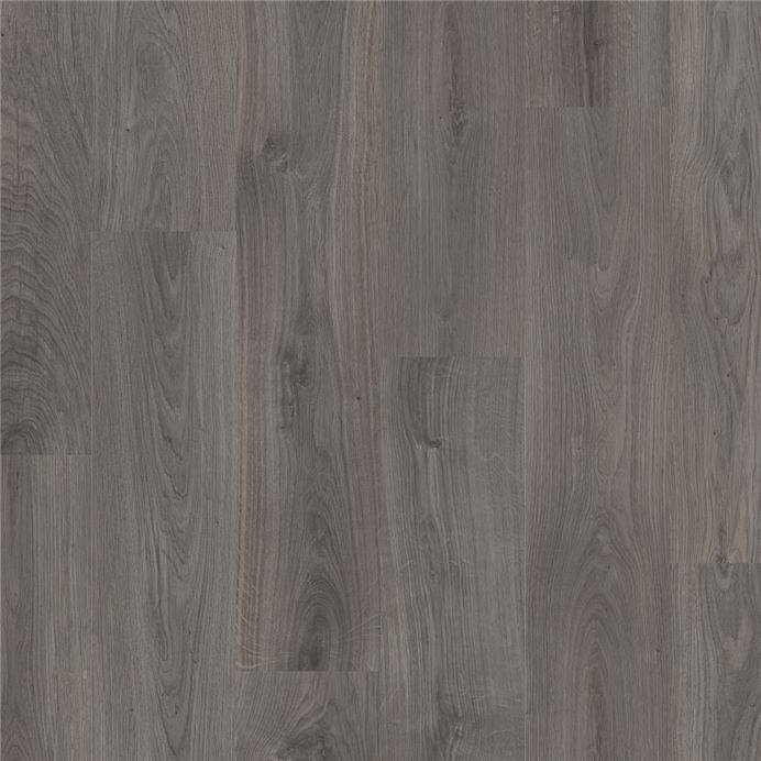 L0247 01805 Dark Grey Oak Official, Black Wood Laminate Flooring